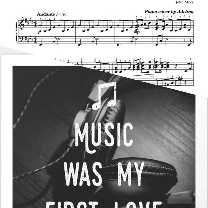 """Music"" – John Miles – Piano Sheet Music"