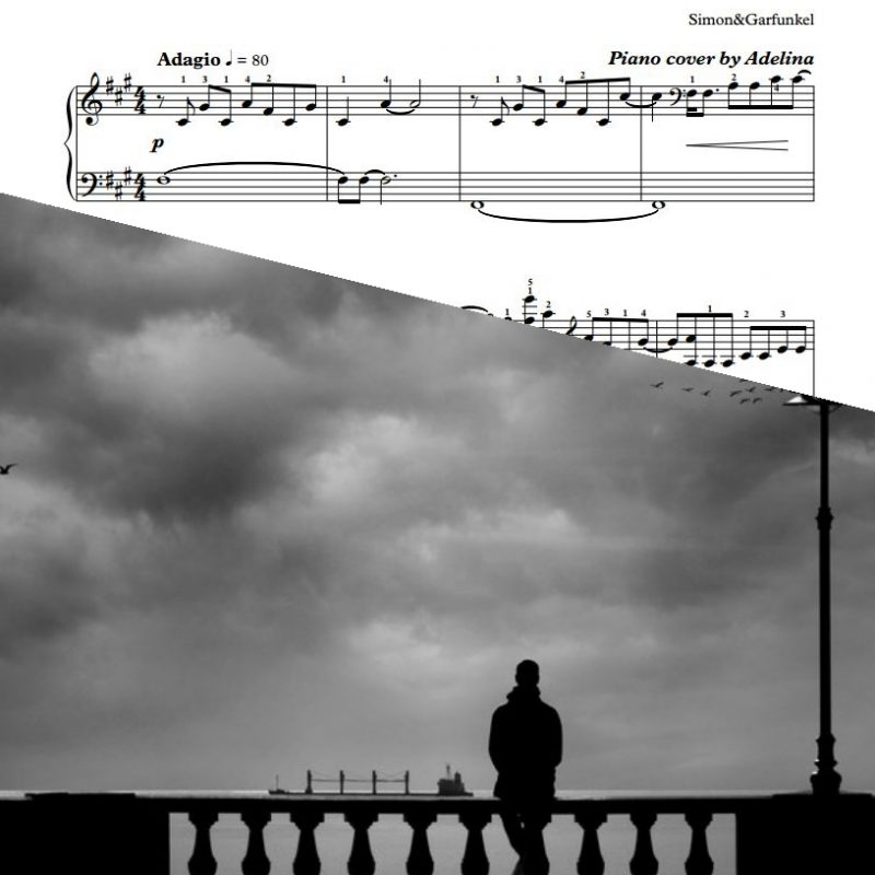 """The Sound of Silence"" – Simon&Garfunkel – Piano Sheet Music"