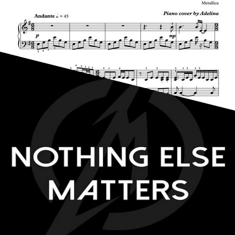 """Nothing Else Matters"" – Metallica – Piano Sheet Music"