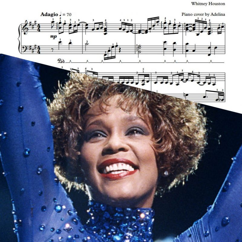 """Greatest Love Of All"" – Whitney Houston – Piano Sheet Music"