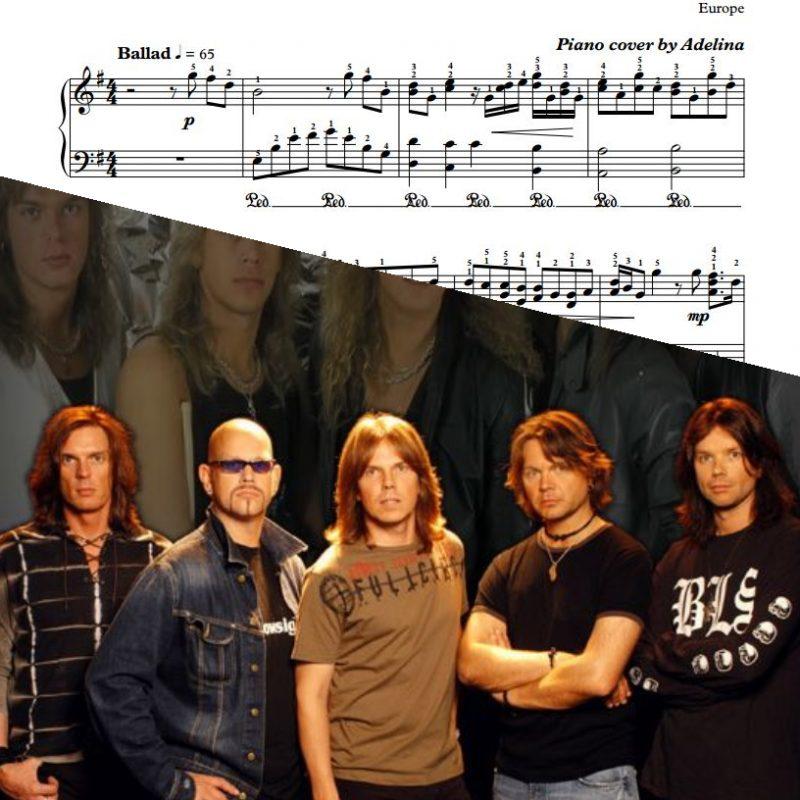 """""""Carrie"""" – Europe – Piano Sheet Music"""
