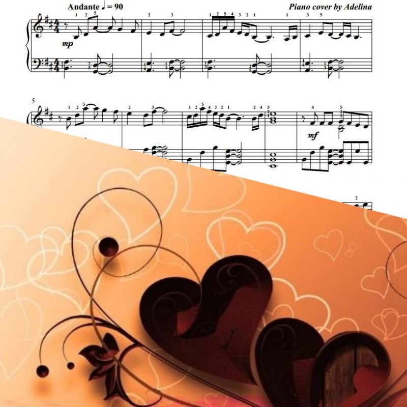 """Listen To Your Heart"" – Roxette – Piano Sheet Music"