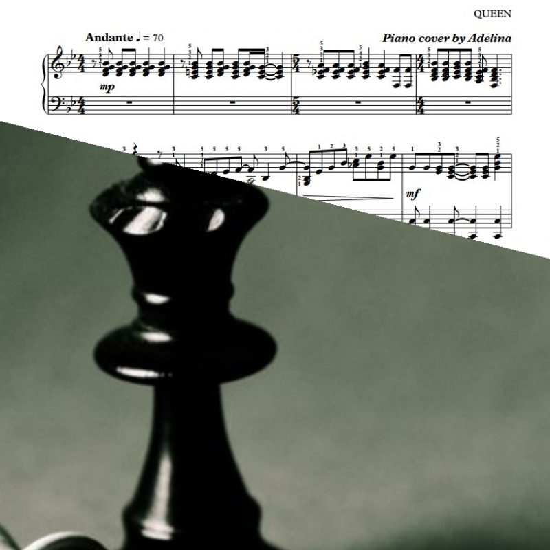 """""""Bohemian Rhapsody"""" – Queen – Piano Sheet Music"""