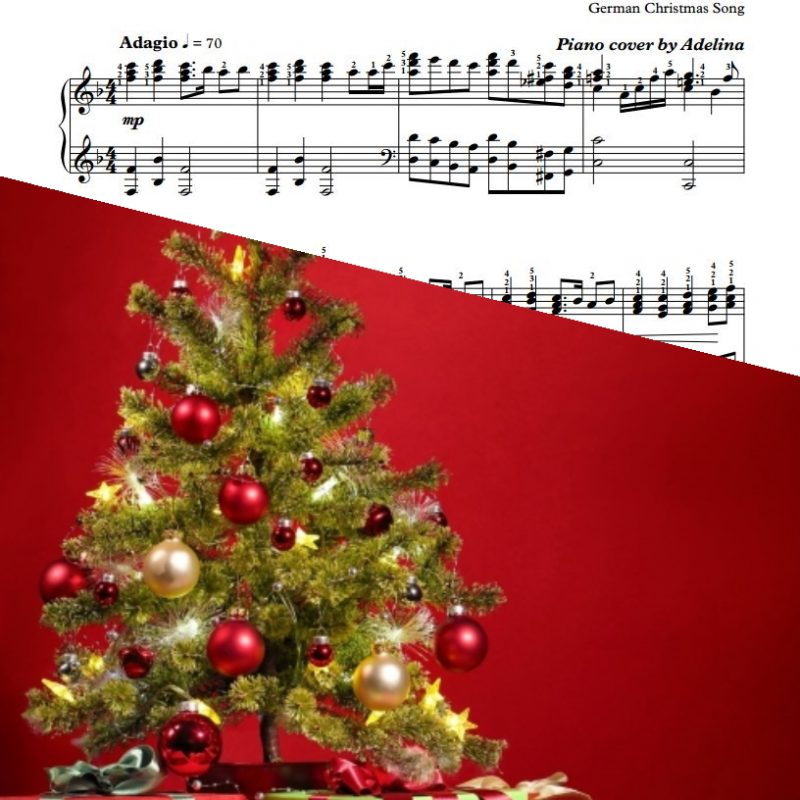 """O How Joyfully"" – German Christmas Song – Piano Sheet Music"