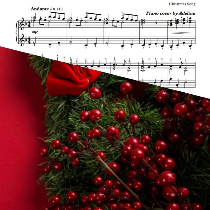 """""""Angels We Have Heard On High"""" – Christmas Song – Piano Sheet Music"""