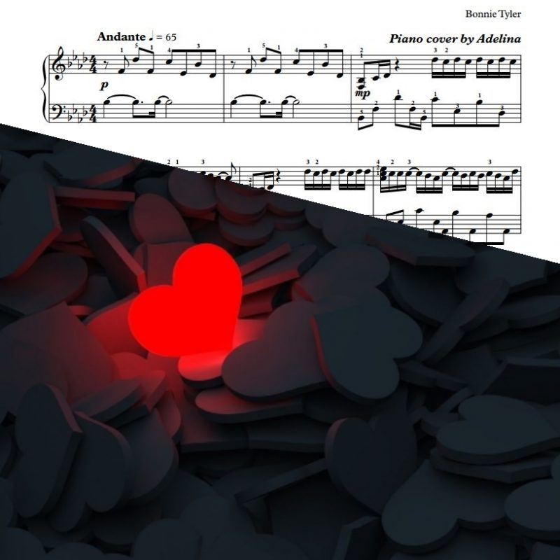 """Total Eclipse Of The Heart"" – Bonnie Tyler – Piano Sheet Music"