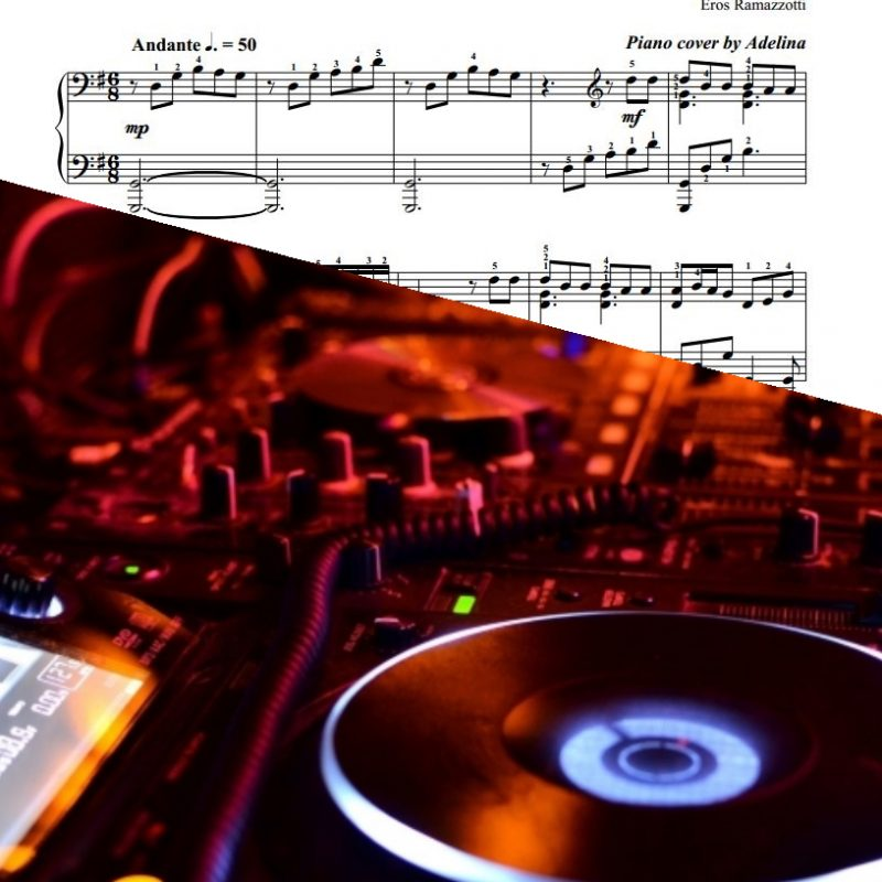 """Se Bastasse Una Canzone"" – Eros Ramazzotti – Piano Sheet Music"