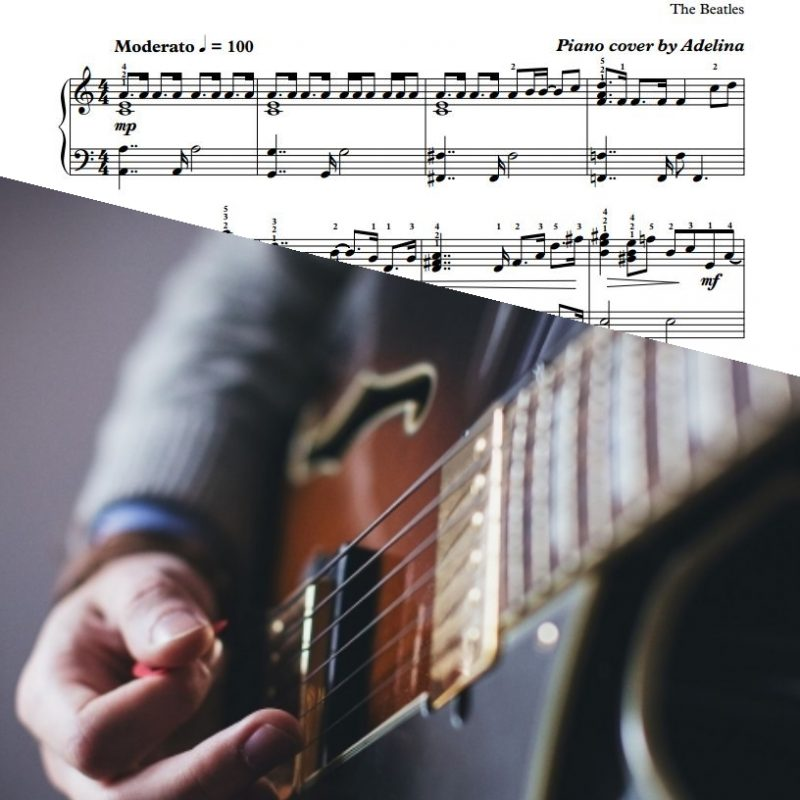 """While My Guitar Gently Weeps"" – The Beatles – Piano Sheet Music"