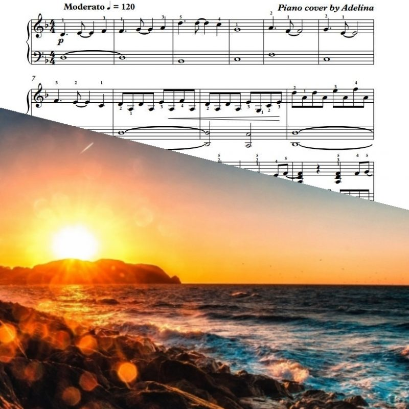 """Sleeping Sun"" – Nightwish – Piano Sheet Music"